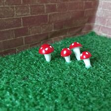 1:12 Scale 4 TOADSTOOLS Set Dolls House Miniature/Fairy Garden Accessory