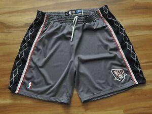NEW JERSEY NETS Team Issued Pro Cut Shorts Reebok GRAY NBA ALTERNATE 50+2+4