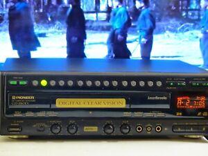 Vintage Pioneer LD/CD Laser Disc Both side player  built in Karaoke, micro input