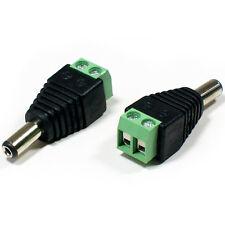 5x 5.5mm X 2.1mm Tornillo Terminal Conector Macho Dc-Cctv Jack Socket Adaptador de corriente