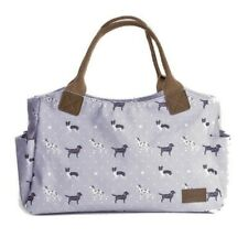 Grey Tote Handbag Bag Canvas Handles Gifts Dalmatians Labrador Collies Dog Gift