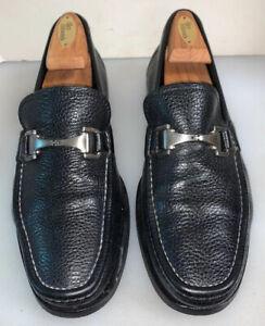 Allen Edmonds 10 D Firenze Bit Loafers Black Grain Leather Italy Made Restored