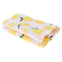 Baby Swaddling Blanket Soft Muslin Cotton Swaddle Towel Lemon
