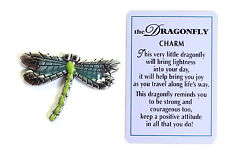 The Dragonfly Charm of Spirit with Story Card!