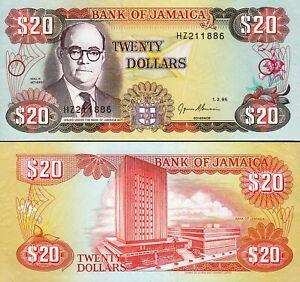 Jamaica 20 Dollars 1995, UNC- , P-72e