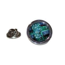 Green Printed Circuit Board LAPEL PIN Electrician Hat Cap Badge Birthday Present