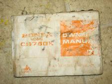 78 Honda CB750 CB 750k Service & Repair Manual Del Propietario