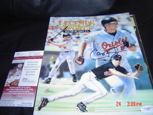 BALTIMORE ORIOLES CAL RIPKEN JR. signed MAGAZINE JSA