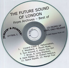 FUTURE SOUND OF LONDON From Archives UK 12-trk promo test CD FSOL
