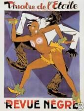 Revue Negre Josephine Baker cabaret Theatre de Etoile art  poster print SKU1491
