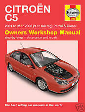 Haynes Manual Citroen C5 2001-2008 Gasolina y Diésel 4745
