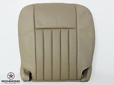 05 06 Driver Side Bottom PERFORATED Leather Seat Cover Tan - Richmond Upholstery