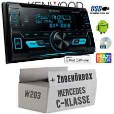 Mercedes C-Klasse W203 - Kenwood USB CD MP3 Autoradio Einbauset Auto KFZ Radio
