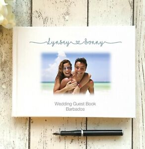 PERSONALISED BESPOKE WEDDING GUEST BOOK ~ YOUR DESIGN/PHOTO ON THE COVER ~ A4/A5