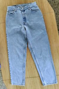 Vintage Levis 550 Relaxed Fit Blue Jeans Womens 10 S High Waisted Tapered