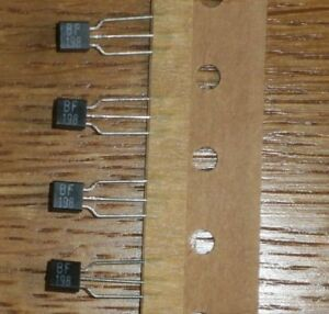 5 Transistoren  BF 198 ( = NOS = npn 30 V 30 mA 500 mW 400 MHz TO92 )