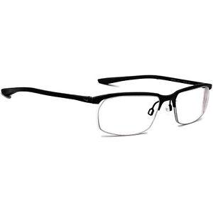 Nike Eyeglasses 6070 001 Titanium Matte Black Half Rim Frame 53[]17 135