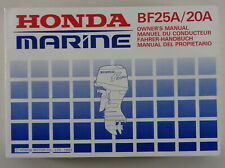 Operating Honda Navy BF25A/20A From 1993