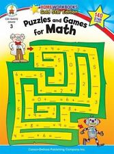 Home Workbooks: Puzzles and Games for Math, Grade 3 by Carson-Dellosa...