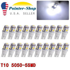 20 X 7000k Cool White T10 5050 5SMD LED 192 194 W5W 2825 158 LED Light bulbs 12V