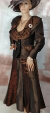 Ladies/Women's Brown & Copper Tones Skirt Suit/Wedding Outfit Size UK10-12