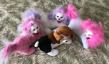 Puppy Surprise Big Lot Of 4 Dogs & 18 Puppies 4 Bark Pink Purple White Brown