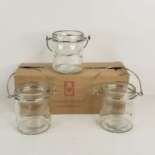 Yankee Candle Mason Jar 3 Pack in Box Mini Mason Jars with Metal Handles NEW