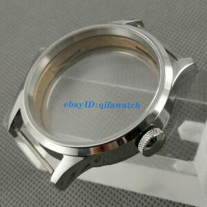 ST3600 3620  ETA 6497 6498 Movement Kit Polished Sapphire glass 43mm Watch Case