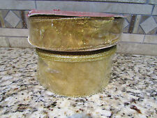 NEW LOT GOLD METALLIC RIBBON 200 FEET WIRE EDGED CHRISTMAS & CRAFT RIBBON