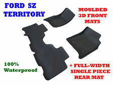 To suit Ford Territory SZ & MK2 - 3D Rubber Car Floor Mats 2011 - 2017