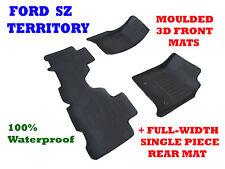 To suit Ford Territory SZ & SZ2 MK2 - 3D Rubber Car Floor Mats 2011 - 2017