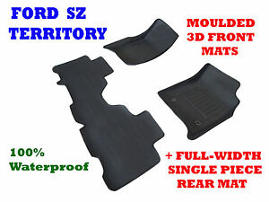 To suit Ford Territory SZ & SZ2 MK2 - 3D Rubber Car Floor Mats 2011 - 2017