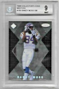 1998 Collector's Edge Masters Randy Moss RC #186 BGS 9 Mint Minnesota Vikings
