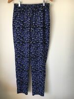 Trousers Size 10 Blue Black Next Polyester <T13129