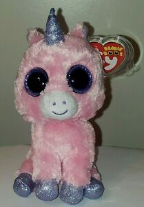 Ty Beanie Boos MAGIC the Pink Unicorn (Glitter Eyes)(6 Inch) MINT with MINT TAGS