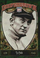 2013 (TIGERS) Panini Cooperstown Green Crystal #5 Ty Cobb