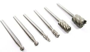 Burr Set Rotary Tool 6pc Micro HSS Dremel Bits Engraving Hobby Crafts etc  HB191
