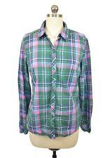 Vintage Esprit Plaid Shirt 8 Plaid Check Pink Blue Green Long Sleeve Button Down
