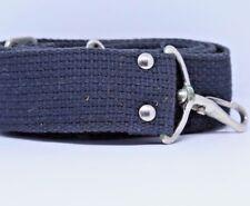 """Black Stitched Strap Domke style 1.5"""" wide Neck Shoulder camera case metal clips"""