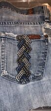 7 for all mankind distressed shorts size 25