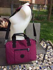 NWOT Kipling Burgundy Computer Bag Tote Travel Briefcase