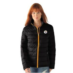 Pittsburgh Steelers Womens Full Zip Jacket Packable Polyfill Fair Catch by G-III