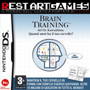 BRAIN TRAINING DEL DR. KAWASHIMA - NINTENDO DS - USATO GARANTITO
