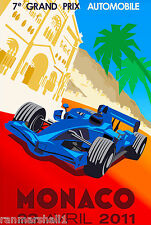 2011 Monaco Grand Prix Automobile Race Car Advertisement Vintage Poster