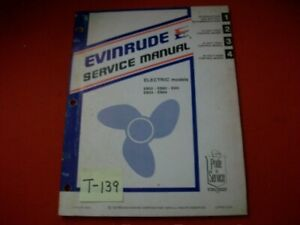 VINTAGE 1980 EVINRUDE OUTBOARD SERVICE MANUAL ELECTRIC MODELS EB 52 54 82 84 E4H