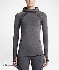 Nike Pro Hyperwarm Limitless  Women's Training Hoodie M Black Gray Gym New
