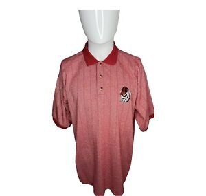 Vintage UGA Bulldogs Mens XL Embroidered Red Striped Polo Shirt NCAA