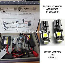 KIT XENON CENTRALINE BALLAST SLIM H1 6000K 35W + luci posizione T10 canbus