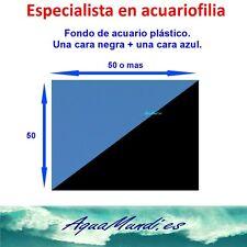 fondo telon acuario plastico reversible negro y azul decoración decorativo