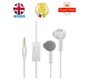 100% GENUINE ORIGINAL Samsung Wired Headphones Earphones White (Out From Box) UK